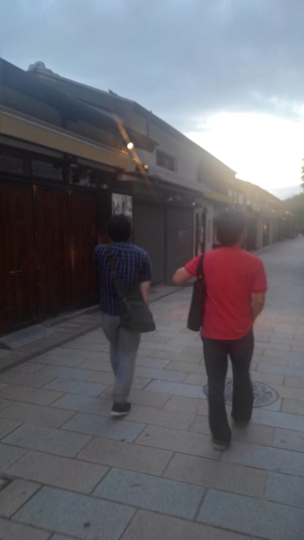 賢茂エイジと友人の田中哲さん